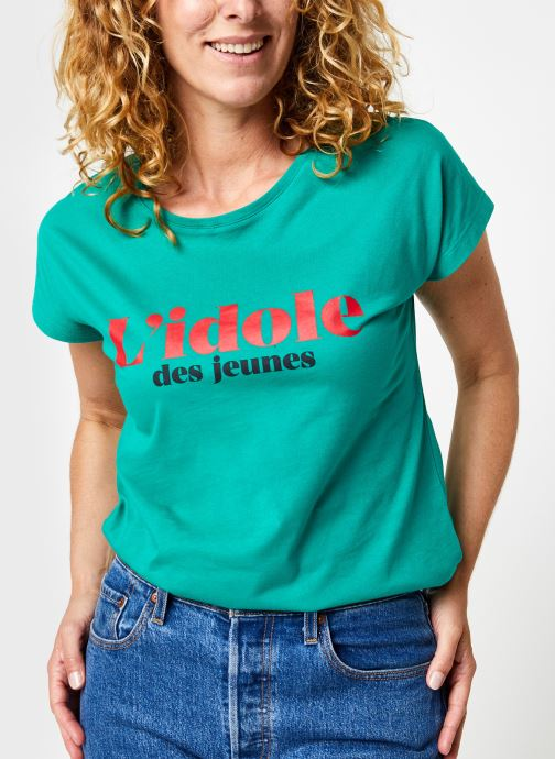 Kleding La petite française Tonnerre Groen detail