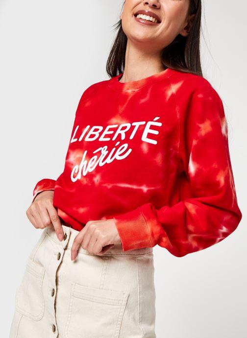 Kleding La petite française Slogan Rood detail