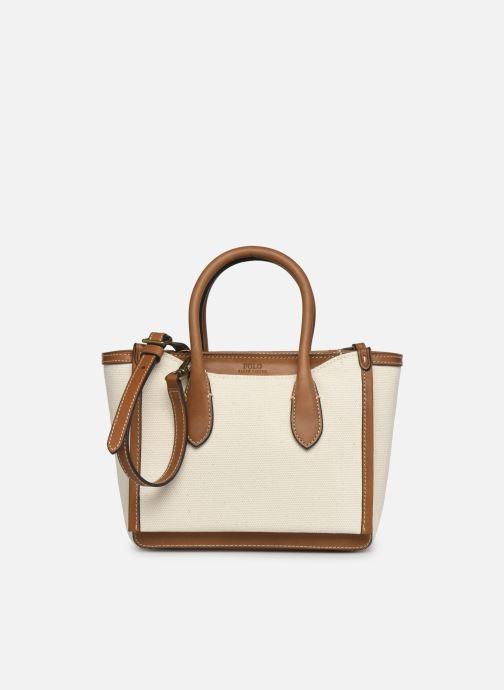 Sacs à main Polo Ralph Lauren MINI SLOANE-SATCHEL-MINI Blanc vue détail/paire