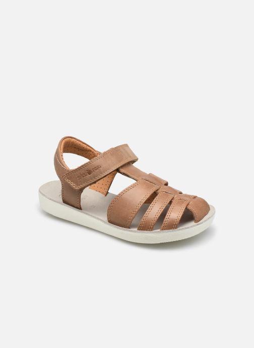 Sandales et nu-pieds Shoo Pom Goa Tonton Marron vue détail/paire