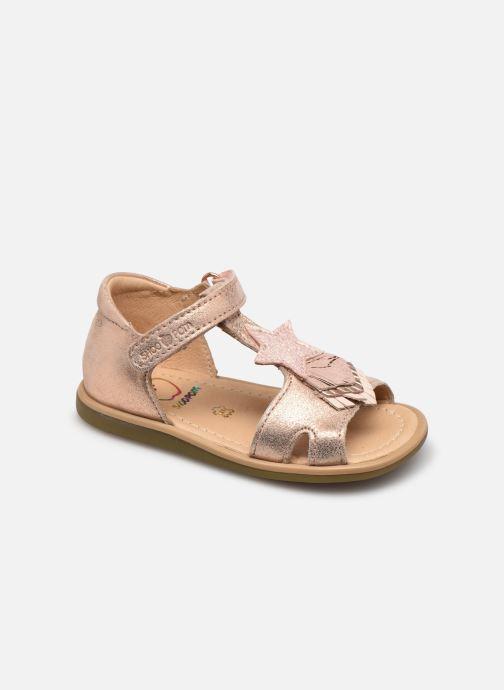 Sandales et nu-pieds Shoo Pom Tity Kid Beige vue détail/paire