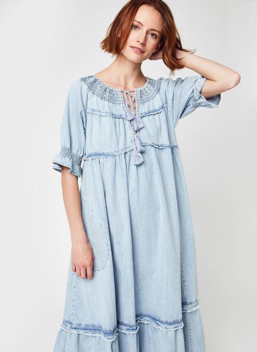 Vêtements Free People ONE AND ONLY MIDI Bleu vue détail/paire