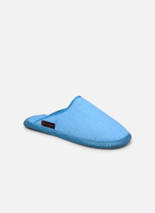 Pantuflas Giesswein Phoenix W Azul vista de detalle / par