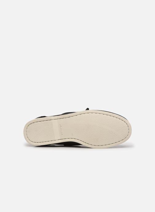 Scarpe con lacci Tommy Hilfiger CLASSIC LEATHER BOAT SHOE Nero immagine dall'alto