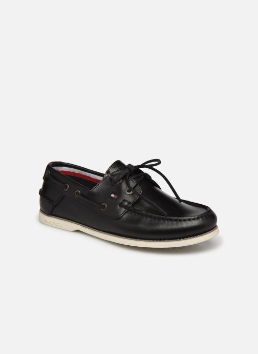 Zapatos con cordones Tommy Hilfiger CLASSIC LEATHER BOAT SHOE Negro vista de detalle / par