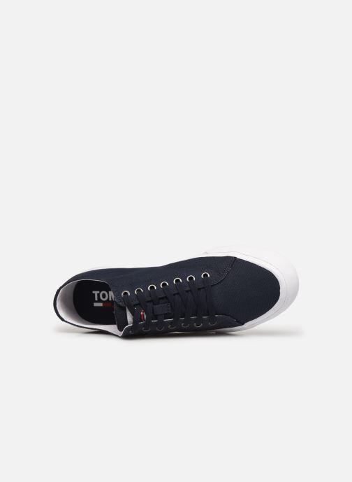 Sneaker Tommy Hilfiger LONG LACE UP VULC blau ansicht von links