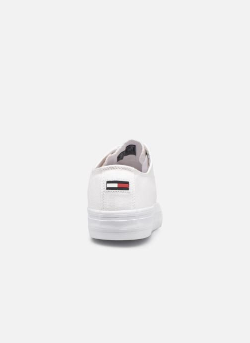 Sneakers Tommy Hilfiger LONG LACE UP VULC Bianco immagine destra