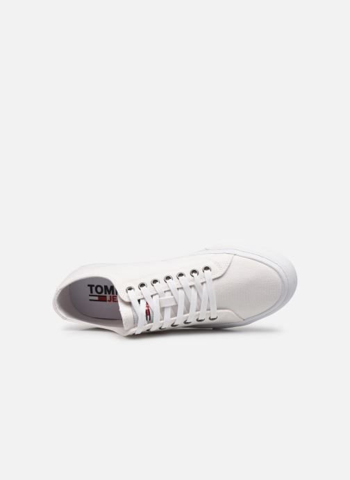 Sneakers Tommy Hilfiger LONG LACE UP VULC Bianco immagine sinistra