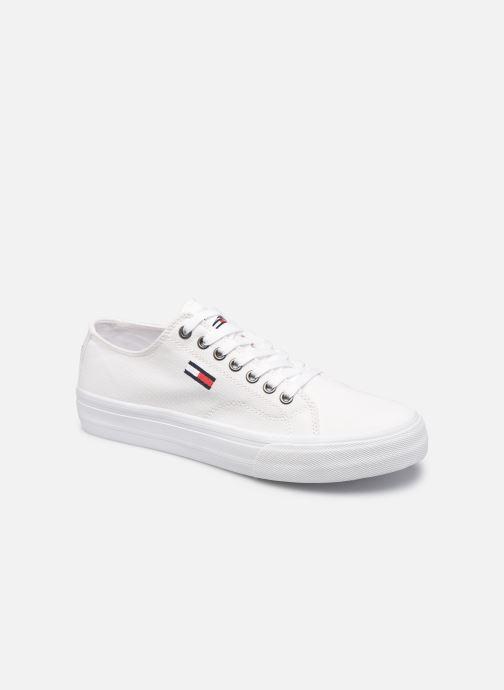 Sneakers Tommy Hilfiger LONG LACE UP VULC Bianco vedi dettaglio/paio