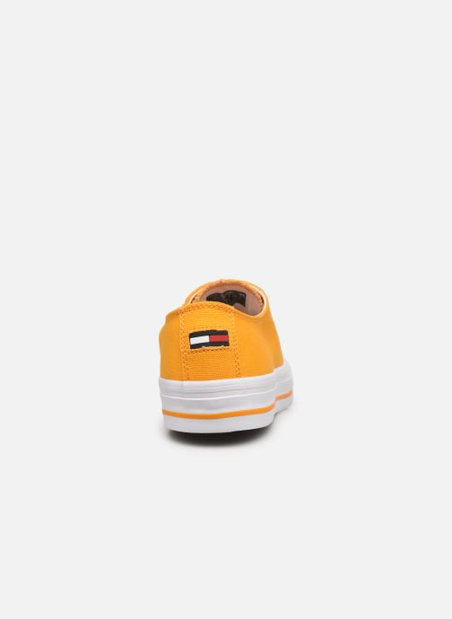 Sneakers Tommy Hilfiger LONG LACE UP VULC Giallo immagine destra