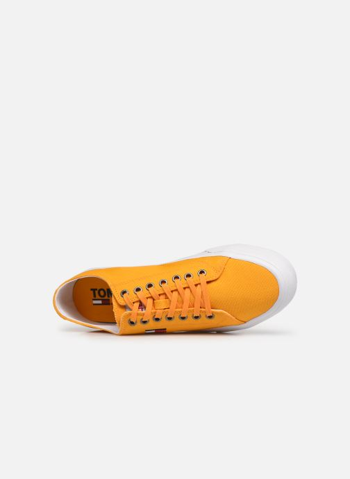 Sneakers Tommy Hilfiger LONG LACE UP VULC Giallo immagine sinistra