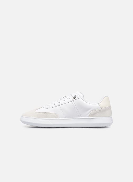 Sneakers Tommy Hilfiger SEASONAL LEATHER MIX CUPSOLE Bianco immagine frontale