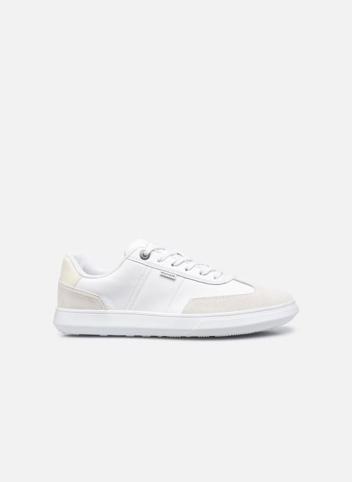 Sneakers Tommy Hilfiger SEASONAL LEATHER MIX CUPSOLE Bianco immagine posteriore