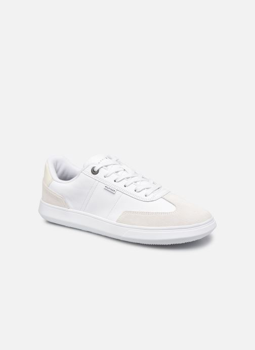 Sneakers Tommy Hilfiger SEASONAL LEATHER MIX CUPSOLE Bianco vedi dettaglio/paio