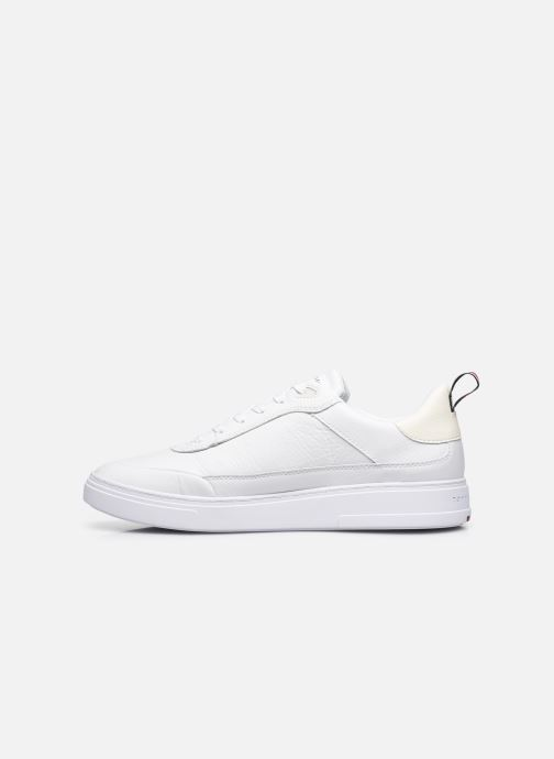 Sneakers Tommy Hilfiger MODERN CUPSOLE LEATHER Bianco immagine frontale
