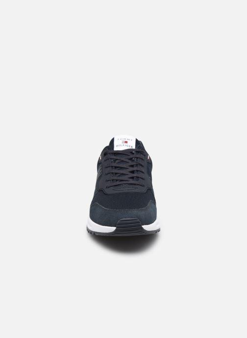Sneaker Tommy Hilfiger MODERN CORPORATE MIX RUNNER blau schuhe getragen