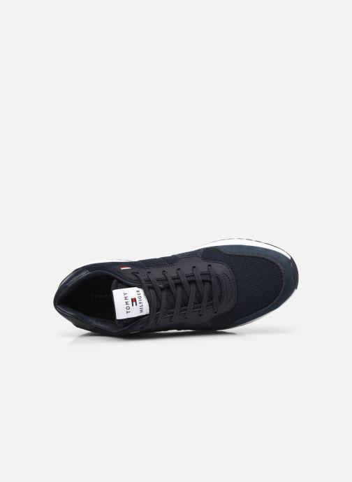 Sneaker Tommy Hilfiger MODERN CORPORATE MIX RUNNER blau ansicht von links
