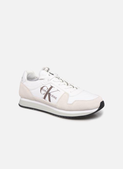 Sneaker Calvin Klein RUNNER SOCK LACEUP NY-LTH weiß detaillierte ansicht/modell