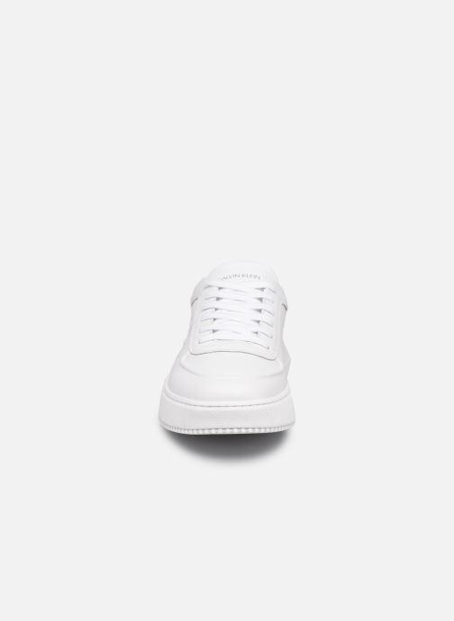 Sneaker Calvin Klein CHUNKY SOLE  LACEUP OXFORD LTH weiß schuhe getragen