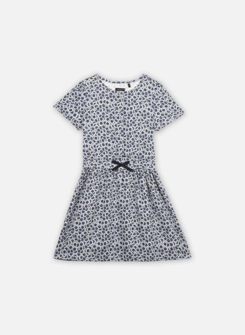 Vêtements IKKS JUNIOR  Robe courte imprimé anémones  XS30102 Bleu vue détail/paire
