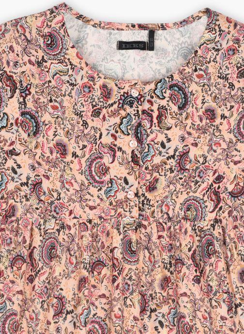 Vêtements IKKS JUNIOR  Robe longue imprimé cachemire  XS30042 Multicolore vue face