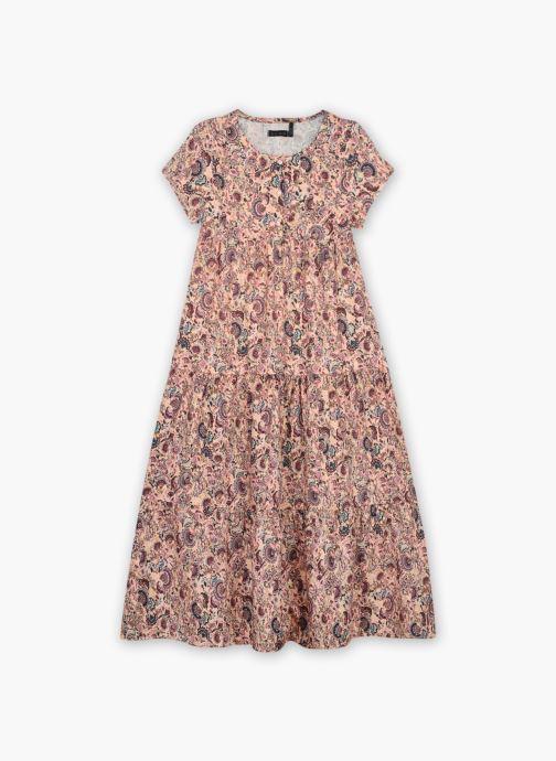 Vêtements IKKS JUNIOR  Robe longue imprimé cachemire  XS30042 Multicolore vue détail/paire