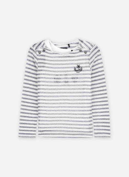 Vêtements IKKS JUNIOR  Tee-shirt 2en1 marinière XS10052 Blanc vue détail/paire
