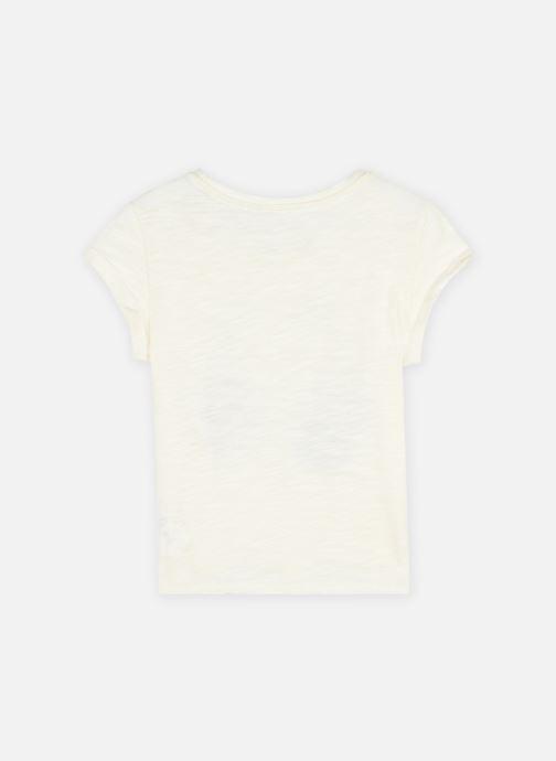 Vêtements IKKS JUNIOR  Tee-shirt flocage mains XS10002 Blanc vue portées chaussures