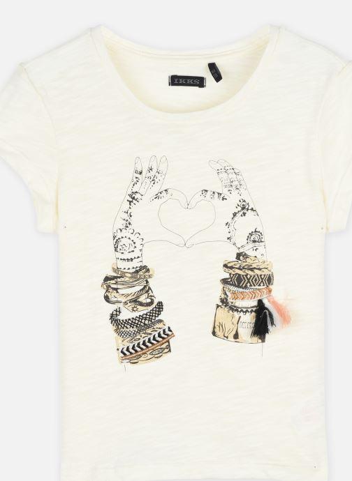 Vêtements IKKS JUNIOR  Tee-shirt flocage mains XS10002 Blanc vue face