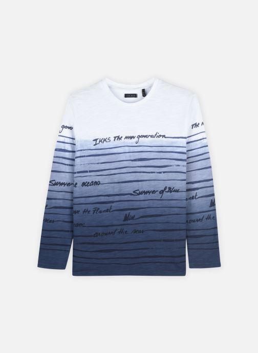 Vêtements IKKS JUNIOR  Tee-shirt marinière dégradée XS10003 Bleu vue détail/paire