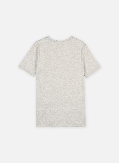 Vêtements IKKS JUNIOR  Tee-shirt panda et skateboard XS10323 Gris vue portées chaussures
