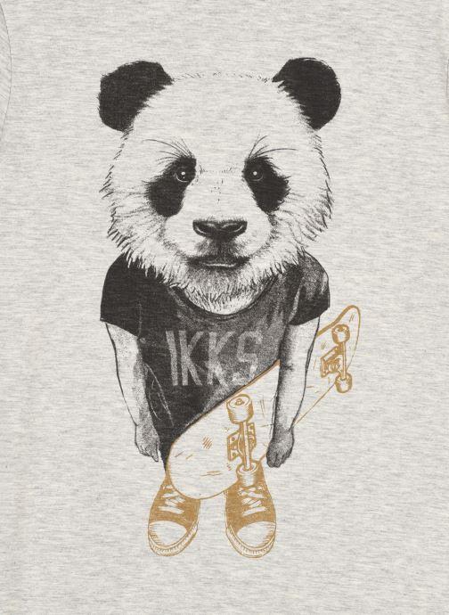 Vêtements IKKS JUNIOR  Tee-shirt panda et skateboard XS10323 Gris vue face