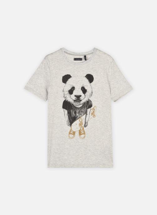 Vêtements IKKS JUNIOR  Tee-shirt panda et skateboard XS10323 Gris vue détail/paire