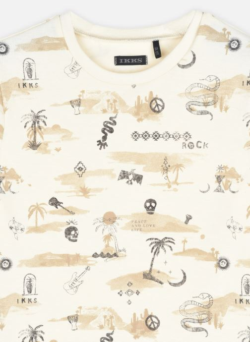 Vêtements IKKS JUNIOR  Tee-shirt thème marrakech et rock XS10093 Beige vue face