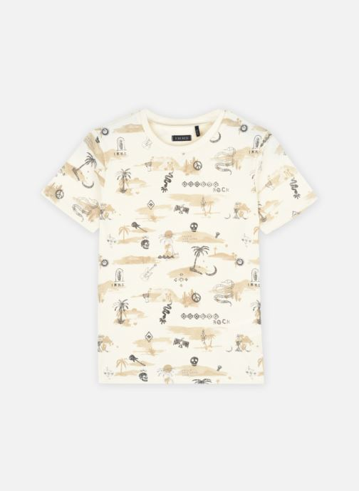 Vêtements IKKS JUNIOR  Tee-shirt thème marrakech et rock XS10093 Beige vue détail/paire