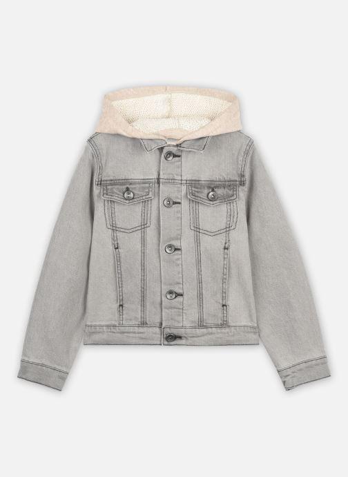 Vêtements IKKS JUNIOR  Veste denim à capuche XS40003 Gris vue détail/paire
