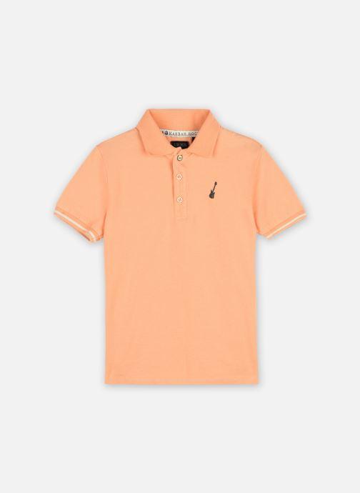"""Vêtements IKKS JUNIOR  Polo """"Rock In' Ikks"""" XS11033 Orange vue détail/paire"""