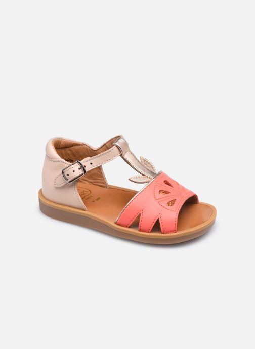 Sandales et nu-pieds Pom d Api Poppy Agrume Orange vue détail/paire