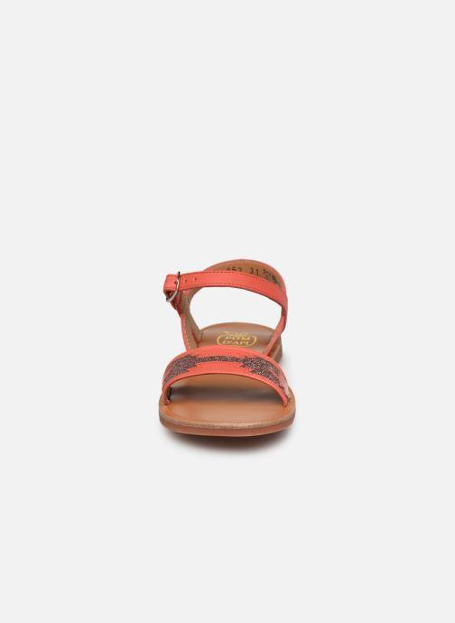 Sandalen Pom d Api Plagette Zia orange schuhe getragen