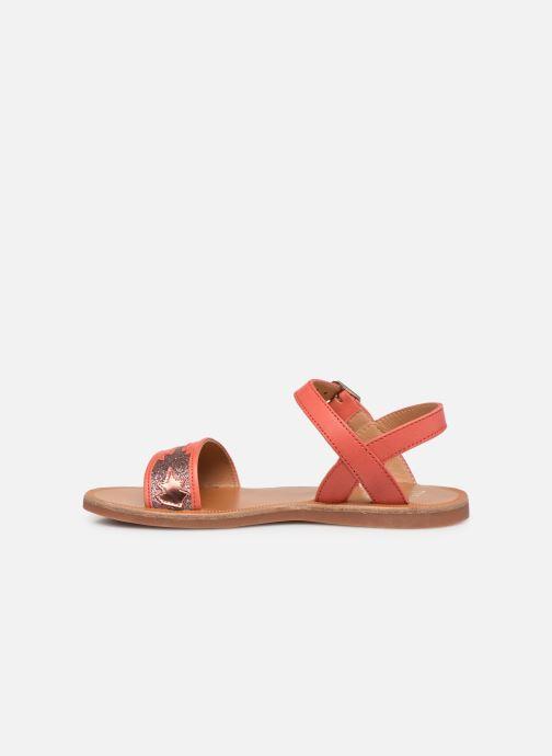 Sandali e scarpe aperte Pom d Api Plagette Zia Arancione immagine frontale