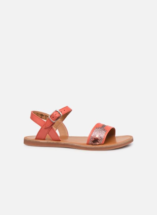 Sandali e scarpe aperte Pom d Api Plagette Zia Arancione immagine posteriore