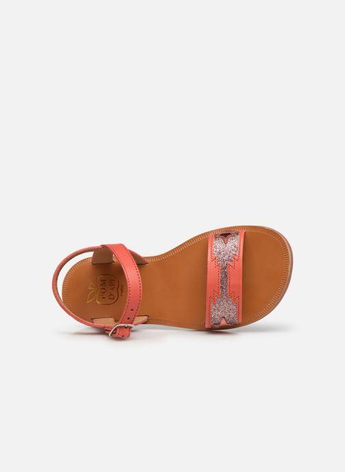 Sandali e scarpe aperte Pom d Api Plagette Zia Arancione immagine sinistra