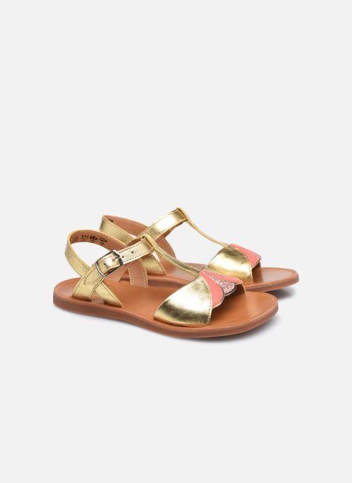 Sandali e scarpe aperte Pom d Api Plagette Art Oro e bronzo immagine 3/4