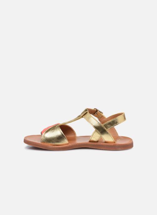 Sandali e scarpe aperte Pom d Api Plagette Art Oro e bronzo immagine frontale