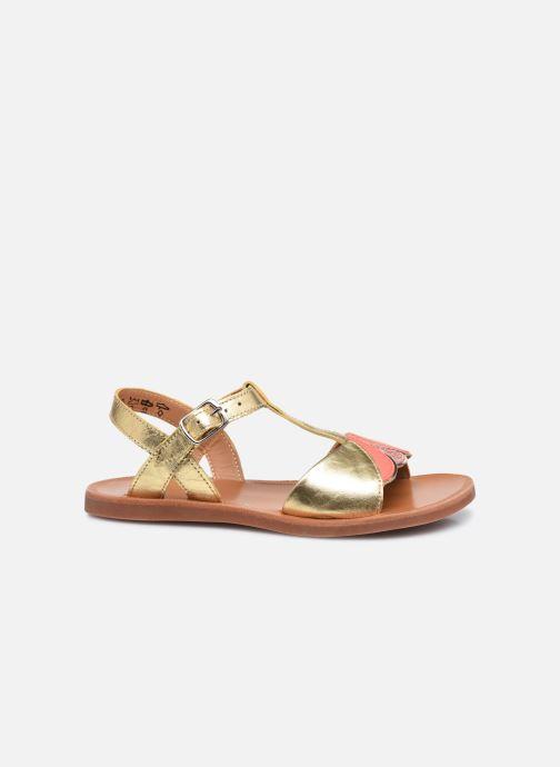 Sandali e scarpe aperte Pom d Api Plagette Art Oro e bronzo immagine posteriore