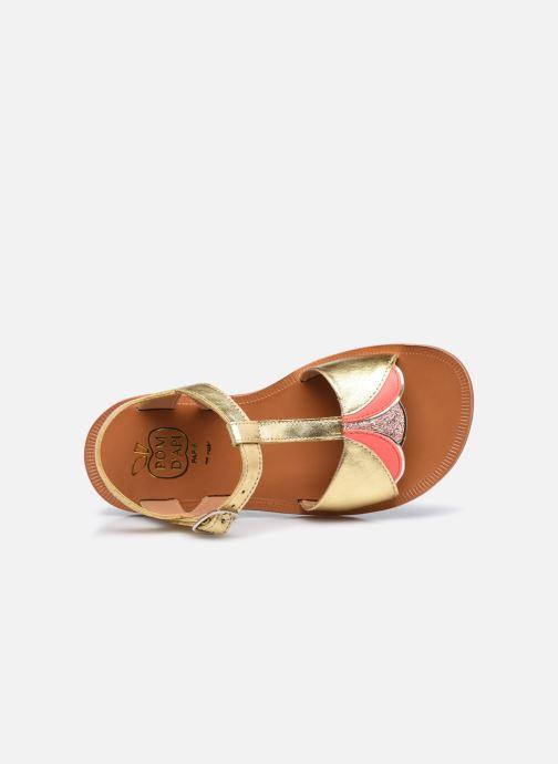 Sandali e scarpe aperte Pom d Api Plagette Art Oro e bronzo immagine sinistra