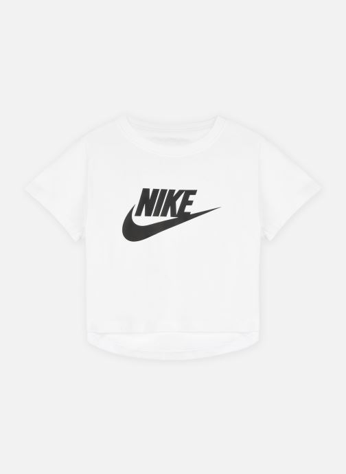 Vêtements Nike G Nsw Tee Crop Futura Blanc vue détail/paire
