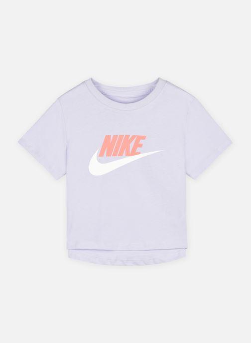Vêtements Nike G Nsw Tee Crop Futura Violet vue détail/paire