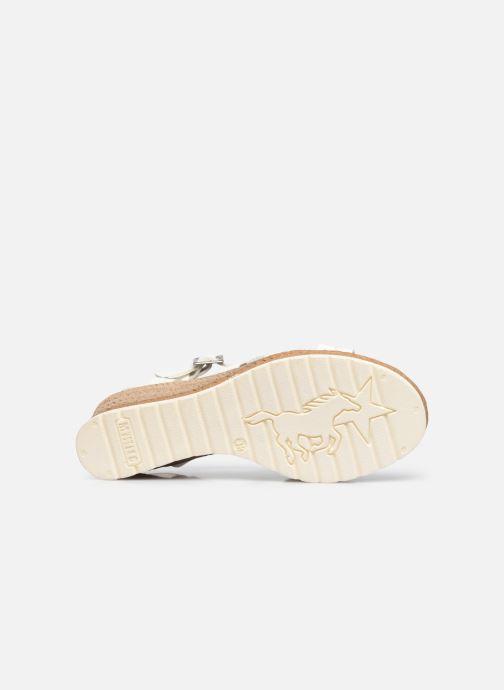 Sandales et nu-pieds Mustang shoes Shadi Blanc vue haut