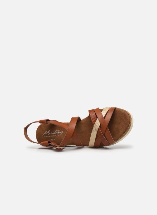 Sandali e scarpe aperte Mustang shoes Shadi Marrone immagine sinistra